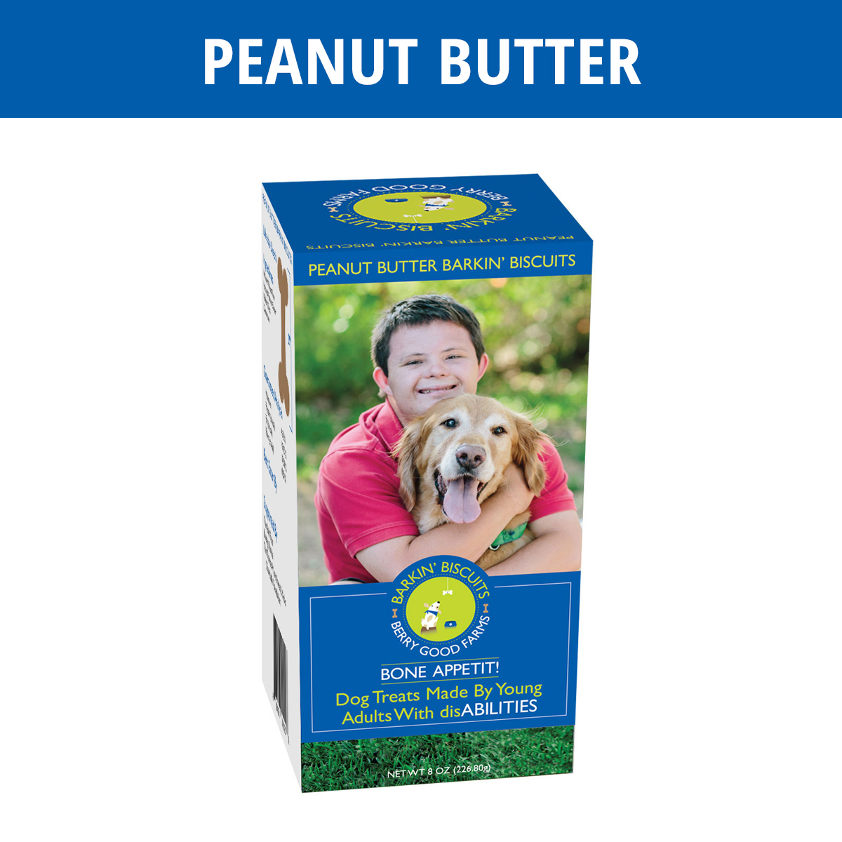 Peanut Butter Barkin Biscuits All Natural Dog Treats